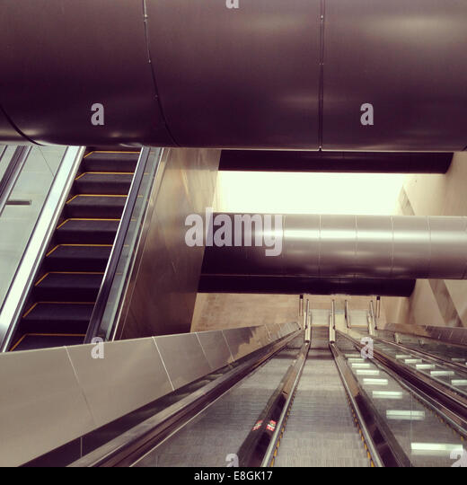 Singapore, Escalators - Stock Image