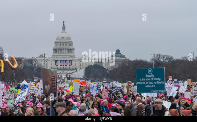 Women's March Washington DC January 21,2017 - Stock-Bilder