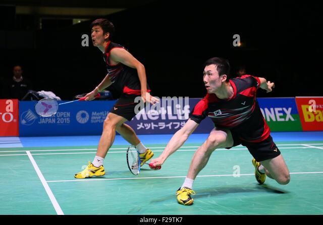 Tokyo Metropolitan Gymnasium, Tokyo, Japan. 13th Sep, 2015. Lee Yong Dae & Yoo Yeon Seong (KOR), SEPTEMBER 13, - Stock Image