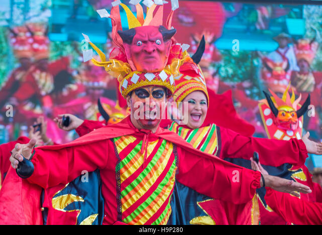 Participants in the Barranquilla Carnival in Barranquilla Colombia , Barranquilla Carnival is one of the biggest - Stock Image