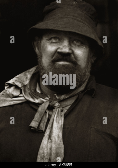 Cornish Tin miner portrait - Stock Image