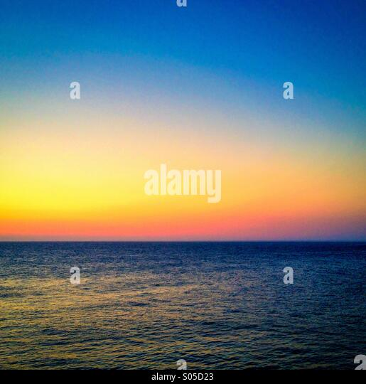 Sunrise over the Mediterranean Sea - Stock Image