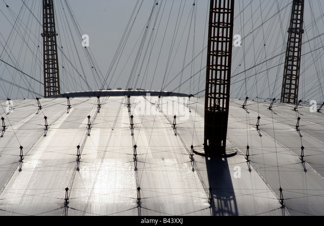 A Graphic view of the Millenium Dome Roof - Stock Image