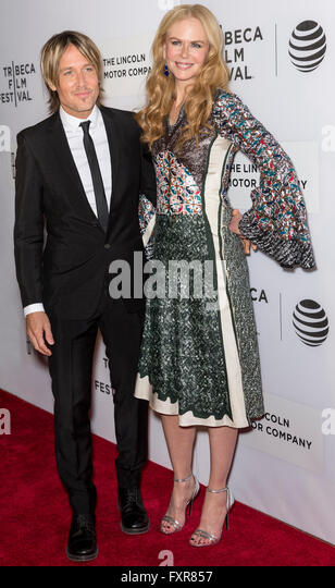New York City, USA - April 16, 2016: Musician Keith Urban and actress Nicole Kidman attend the premiere of 'The - Stock Image