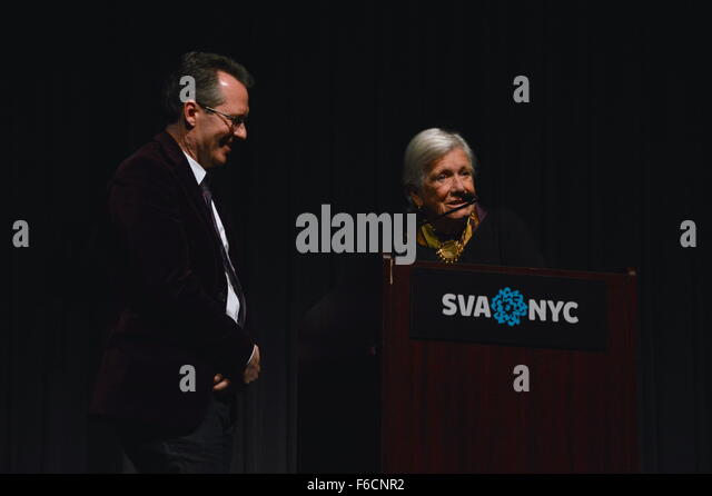 Ann Roth introducing film Women He's Undressed about Orry-Kelly screened at the DOC NYC film festival presented - Stock Image