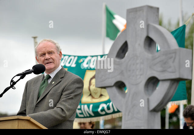 Londonderry, Northern Ireland. 28th June, 2015. Sinn Fein's Martin McGuinness speaking at the annual Derry Republican - Stock Image