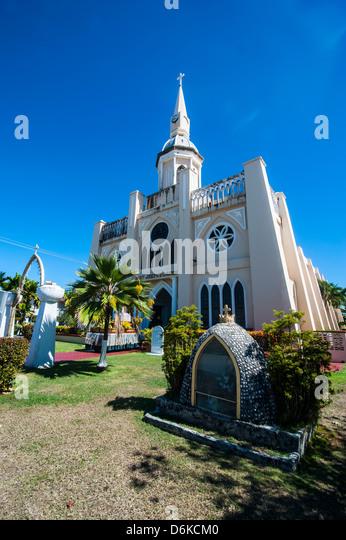 St. Joseph's church in Inarajan, Guam, US Territory, Central Pacific, Pacific - Stock Image