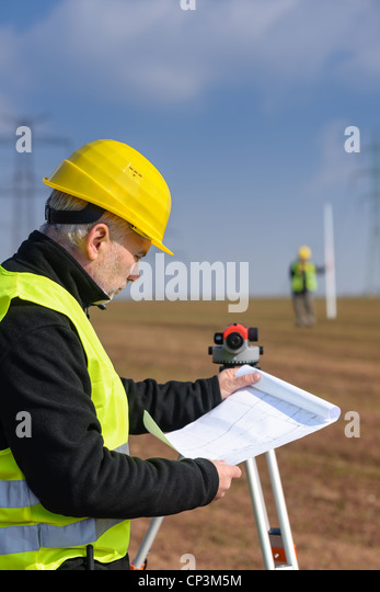 Geodetic stock photos geodetic stock images alamy for How to read construction site plans