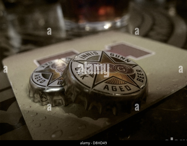 Innis and Gunn Oak Aged Beer I&G cap - Stock Image