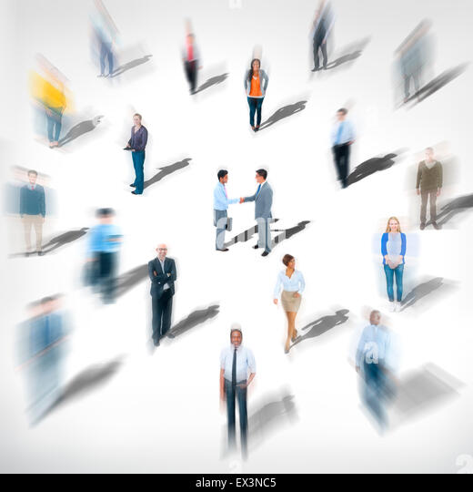 Diverse Ethnic Business Occupation Cheerful Variation Concept - Stock Image