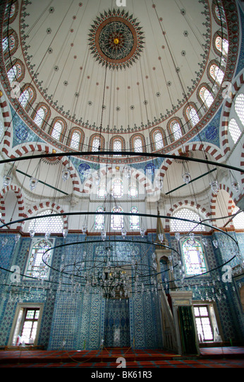 Rustem Pasha mosque, Istanbul, Turkey, Europe - Stock Image