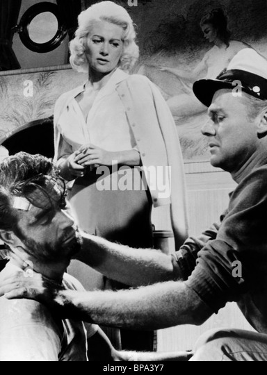 SEAN CONNERY MARTINE CAROL & VAN JOHNSON ACTION OF THE TIGER (1957) - Stock Image