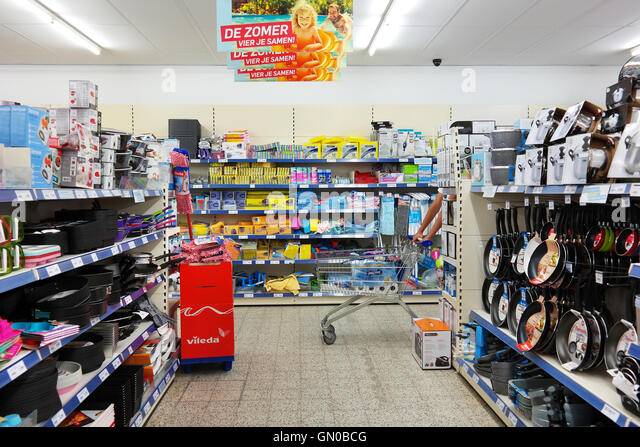 Aldi Discount Supermarket Store Interior Stock Photo