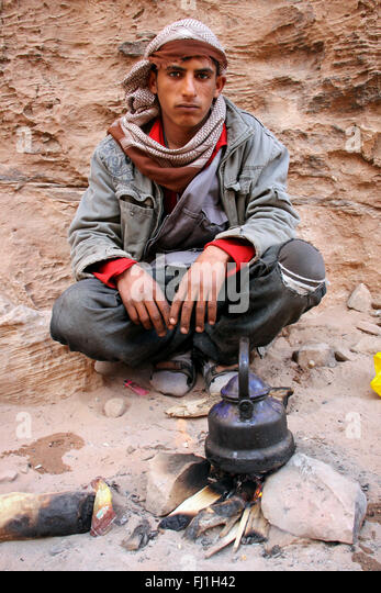Jordan people portrait - Stock Image