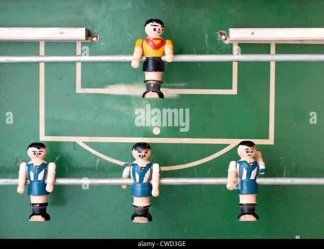 kicker,foosball - Stock Image