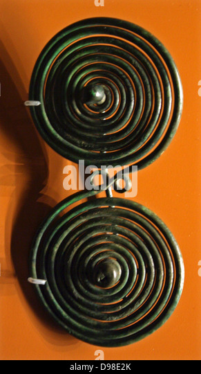 Spiral brooches from the Iron Age. - Stock Image
