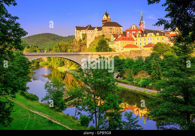 Castle Loket int the near of Karlovy Vary, Czech Republic - Stock-Bilder