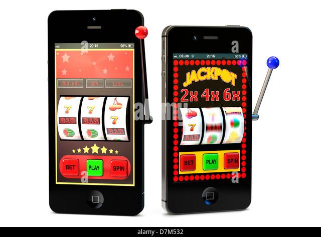 Online Gambling using smartphones - Stock Image