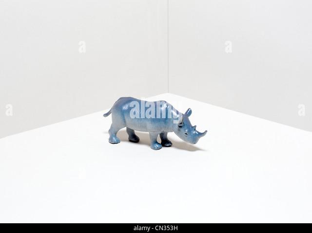 Toy rhinoceros - Stock Image