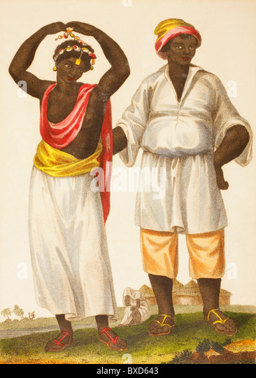 Mandinka couple of West Africa. Also known as Mandinko, Mandingo or Malinke. - Stock Image