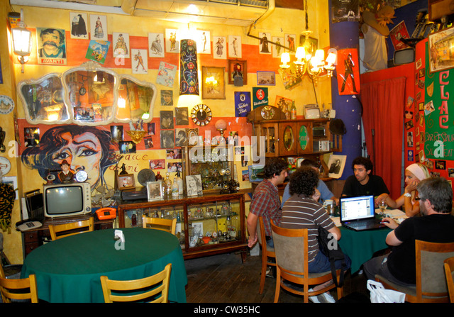 Buenos Aires Argentina Avenida de Mayo La Clac Bar restaurant business theater theme theatre bohemian culture Hispanic - Stock Image