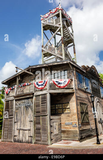 Florida Key West Front Street Key West Shipwreck Treasures Museum observatory outside exterior - Stock Image