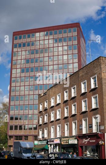 Contrasting architecture, Paddington Street, Marylebone, London, UK, Europe - Stock Image