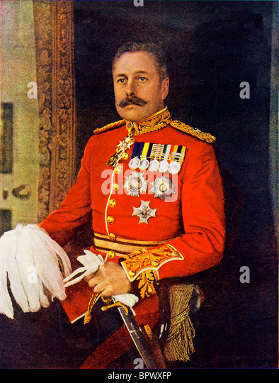 General Sir Douglas Haig, 1914 portrait of the commander of the 1st Corp of the BEF in France at the start of the - Stock Image