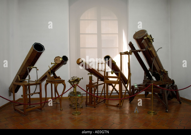 Antique telescopes - Stock Image