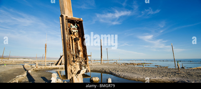 Decay, Bombay Beach, Salton Sea, California - Stock Image
