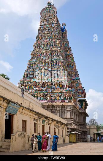 Sri Meenakshi Temple. Madurai. Tamil Nadu. India - Stock Image
