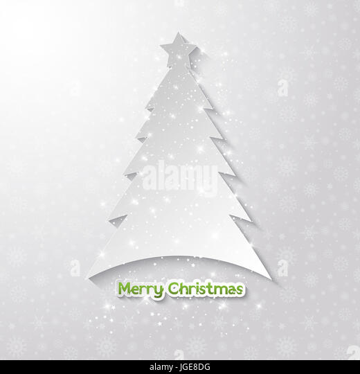 Christmas background with tree design - Stock Image