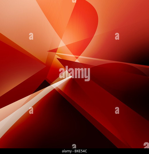 Abstract picture of various transparent colors and lines - Stock Image