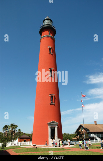 Florida Ponce De Leon Inlet lighthouse - Stock Image