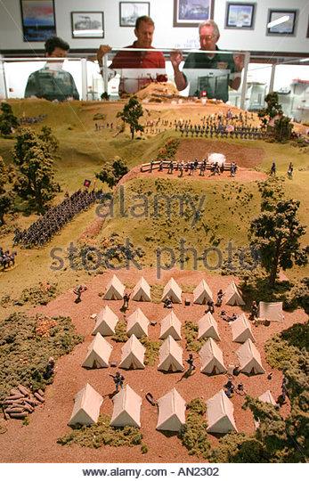 Mississippi Vicksburg Battlefield Museum Civil War diorama miniature soldiers - Stock Image