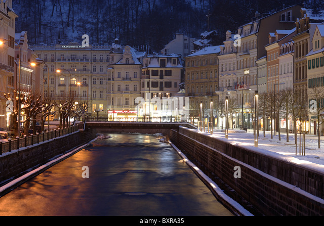 Karlovy Vary,Carlsbad,Czech Republic,Europe - Stock-Bilder