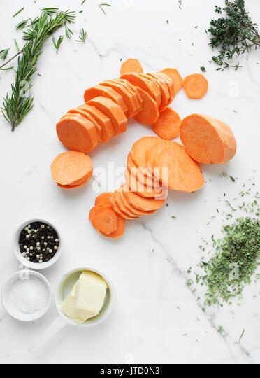 pommes Anna, ingredients - Stock Image