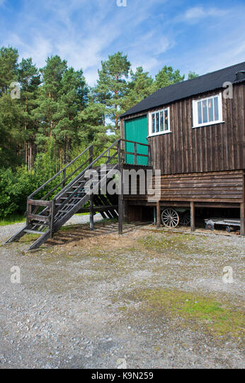 Old building at the Highland Folk Museum in Newtonmore, Scotland - Stock Image