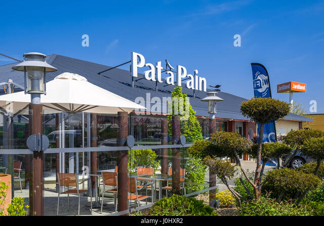 'Pat à Pain' restaurant sign, Chatellerault, France. - Stock Image