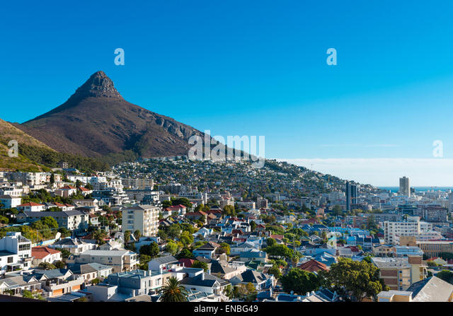 Cape Town (Sea Point) city from overhead position - Stock Image