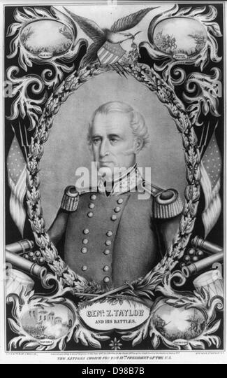 Zachary Taylor (1784-1850) American soldier and 12th President of the United States 1849-1850. Lithograph of General - Stock-Bilder