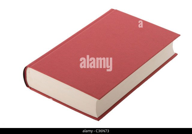 Brand new red hardcover book with blank cover - Stock Image