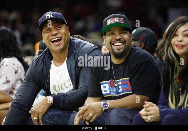 LL Cool J and Ice Cube attend the Big 3 league in Phiily, PA on 7/16/17 - Stock Image