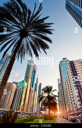 Dubai, Sheikh Zayed Road - Stock Image