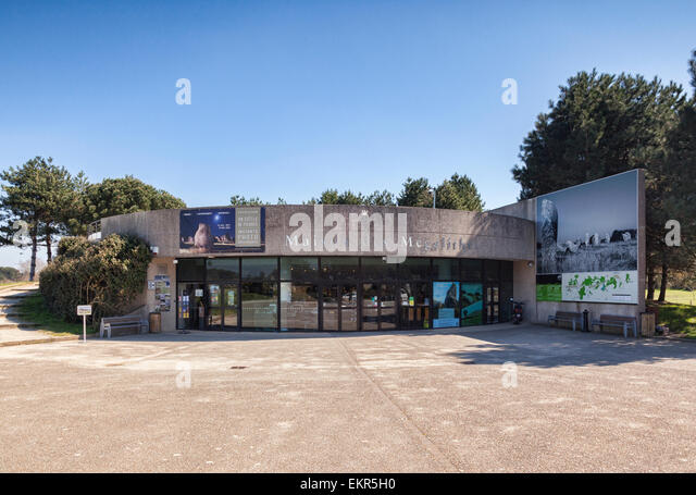 Maison des Megaliths, the Tourist Information Office at Carnac, Brittany, France. - Stock Image