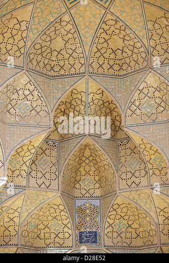Detail of Jameh Mosque, Esfahan, Iran - Stock Image