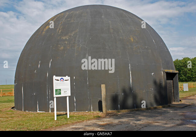 Dome gunnery trainer at at the former RAF Station at Langham, Norfolk - Stock Image