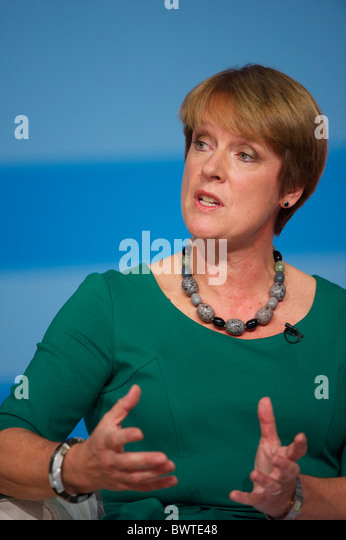 Secretary of State for Environment, Food and Rural Affairs Caroline Spelman addresses delegates on the second day - Stock Image