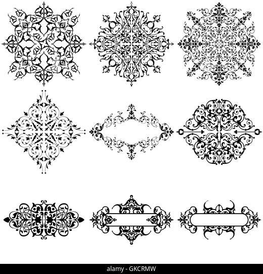 abstract pattern complex black and white stock photos  u0026 images