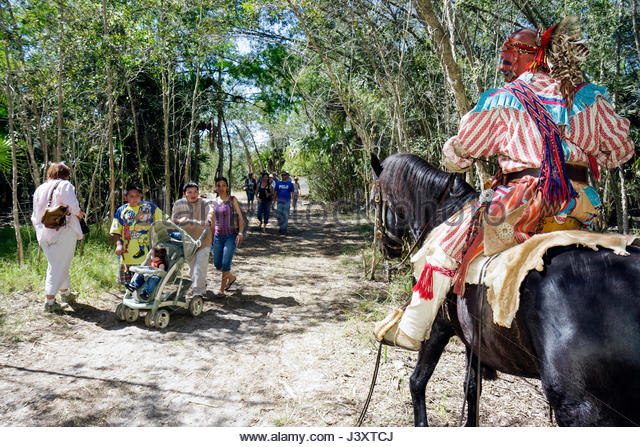 Florida Big Cypress Seminole Indian Reservation Billie Swamp Safari Big Cypress Shootout annual event Native American - Stock Image